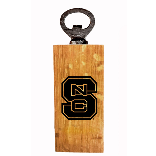 North Carolina State Wolfpack Authentic Barrel Block S Mini Bottle Opener