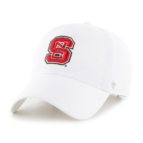 on sale 319fc 7c360 NC State Wolfpack White 47 Brand Clean Up Adjustable Block S Hat