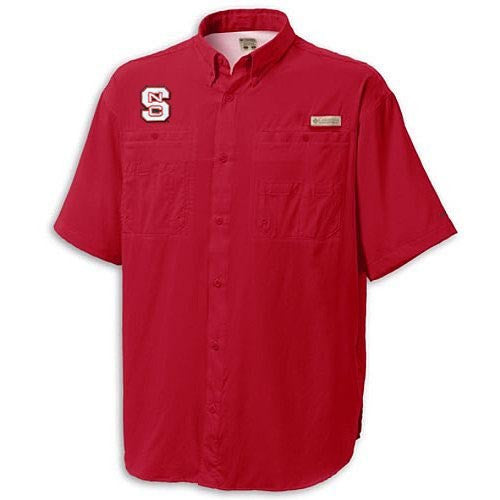 NC State Wolfpack Columbia® Red Tamiami Button Down Shirt