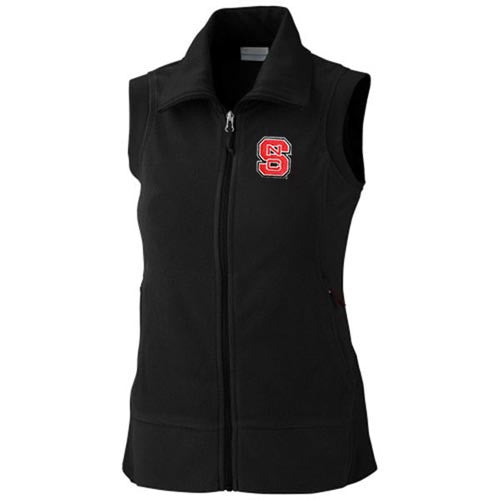 NC State Wolfpack Women's Columbia® Black Give Go Full Zip Vest