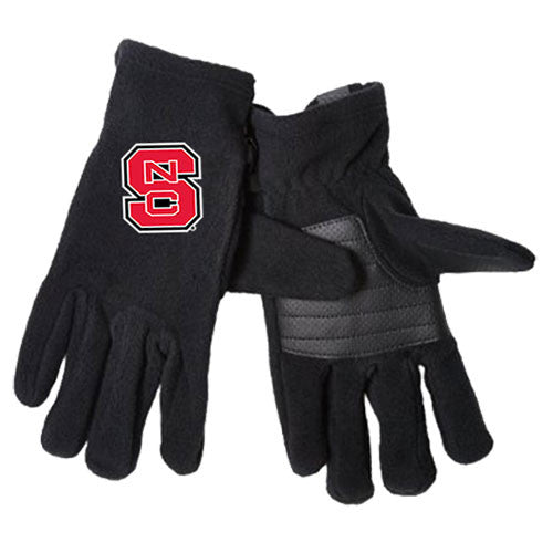 NC State Wolfpack Columbia Black Thermarator Gloves