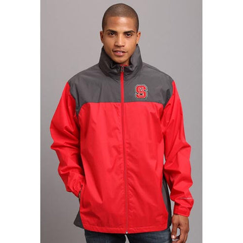 NC State Wolfpack Columbia® Red Glennaker Lake™ Rain Jacket
