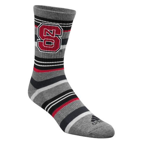 NC State Wolfpack Adidas Crew Socks