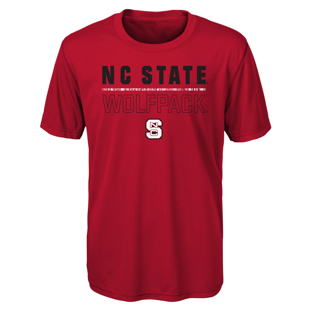 NC State Wolfpack Youth Red Launch Performance T-Shirt