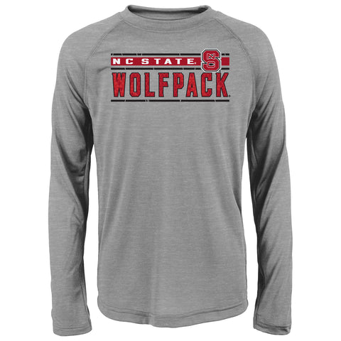 NC State Wolfpack Youth Heathered Grey Generation Dri-Tech T-Shirt