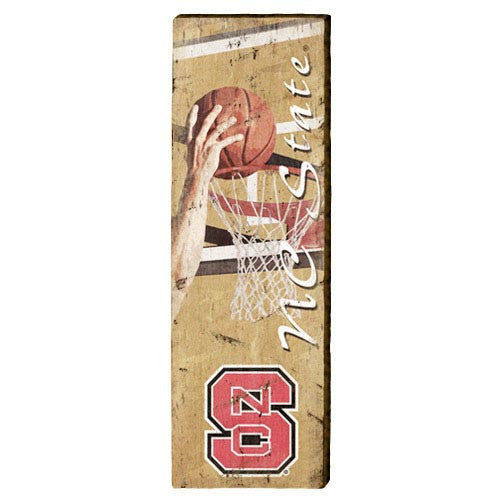 NC State Wolfpack Basketball Mill Wood Art