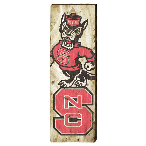 NC State Wolfpack Large Logos Mill Wood Art