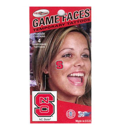NC State Wolfpack Game Face Block S Tattoos