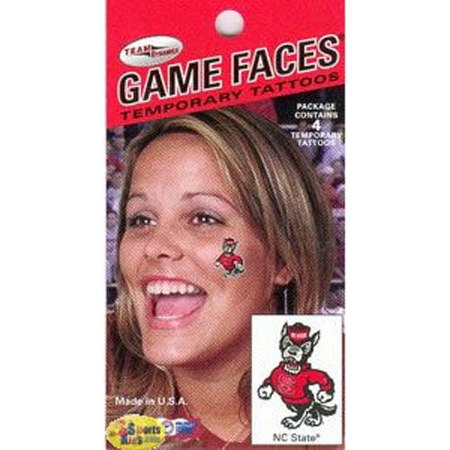 NC State Wolfpack Game Face Strutting Wolf Tattoos