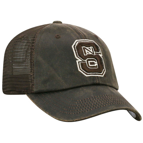 NC State Wolfpack TOW Brown Chestnut Adjustable Hat