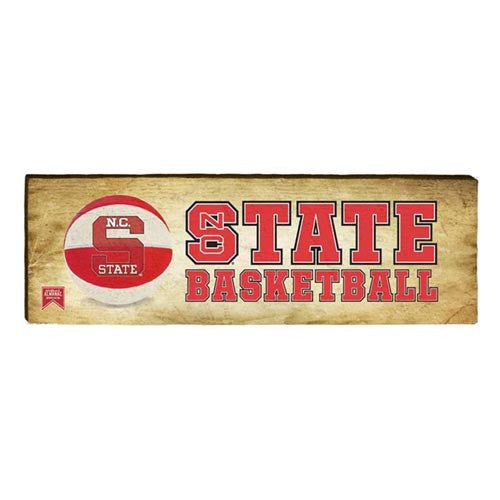 NC State Wolfpack Almanac STATE Basketball Mill Wood Art