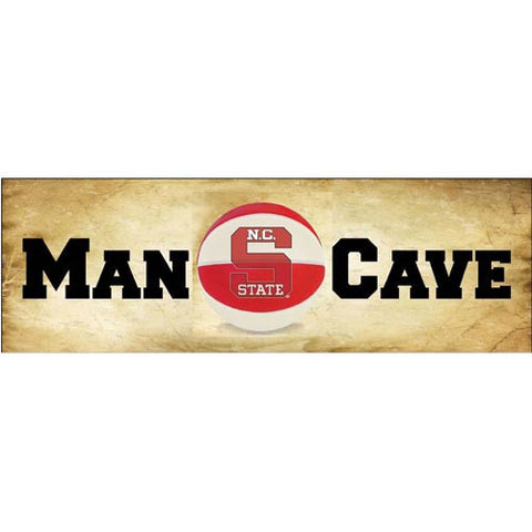 NC State Wolfpack Man Cave Basketball Almanac Mill Wood Art