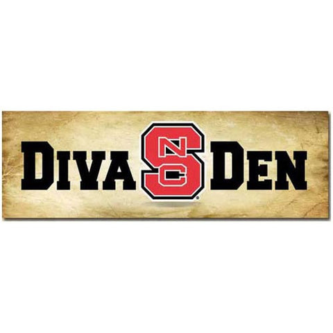 "NC State Wolfpack ""Diva Den"" Mill Wood Art"