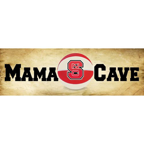 NC State Wolfpack Mama Cave Basketball Mill Wood Art