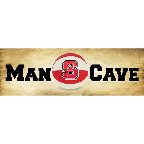 NC State Wolfpack Man Cave Basketball Mill Wood Art