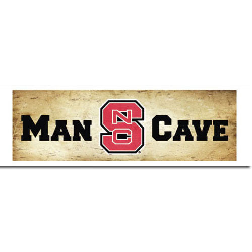 NC State Wolfpack Man Cave Mill Wood Art