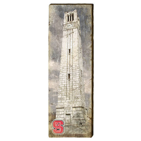 NC State Wolfpack Bell Tower Mill Wood Art
