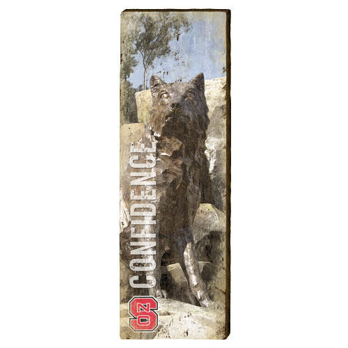 NC State Wolfpack Wolf Confidence Mill Wood Art