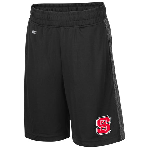 NC State Wolfpack Youth Black Sabertooth Shorts