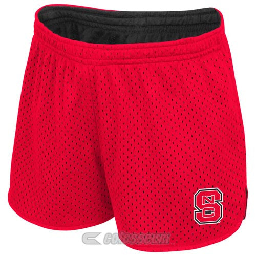 NC State Wolfpack Youth Girls Red Highlight II Reversible Shorts