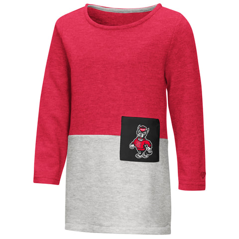 NC State Wolfpack Toddler Girls Red Twizzle Dress
