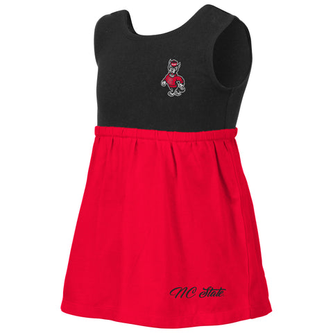 NC State Wolfpack Toddler Girl's Red and Black Berlin Dress