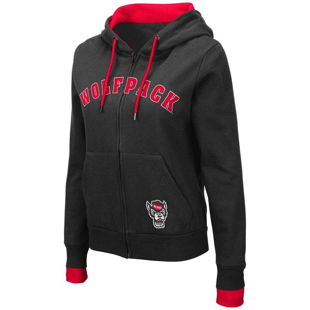 NC State Wolfpack Women's Black Alexander Full Zip Hooded Sweatshirt