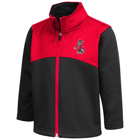 NC State Wolfpack Toddler Red and Black Sleet Full Zip Jacket
