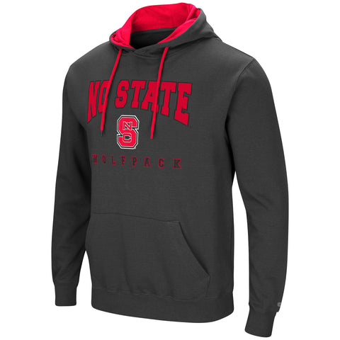 NC State Wolfpack Men's Charcoal Playbook Hooded Sweatshirt