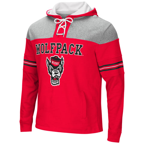 NC State Wolfpack Men's Ice Hockey Wolfhead Pullover Hooded Sweatshirt