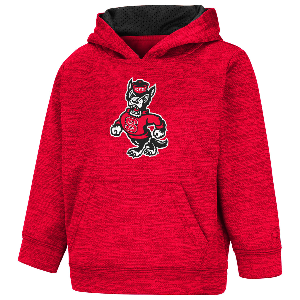 NC State Wolfpack Toddler Boy's Red Strutting Wolf Statler Hooded Sweatshirt