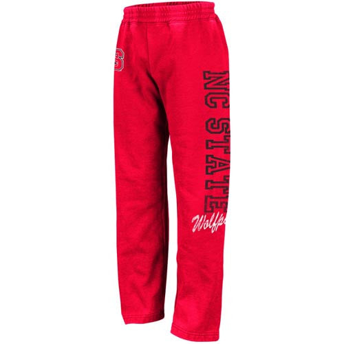 NC State Wolfpack Youth Girls Red Heathered Shaka Pants