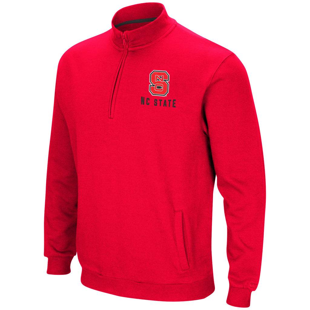 NC State Wolfpack Men's Red Playbook 1/4 Zip Fleece Jacket