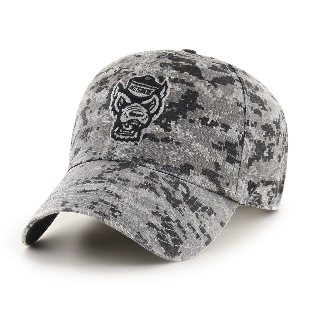 NC State Wolfpack 47 Brand OHT Grey Digital Camo Nilan Clean Up Adjustable Hat