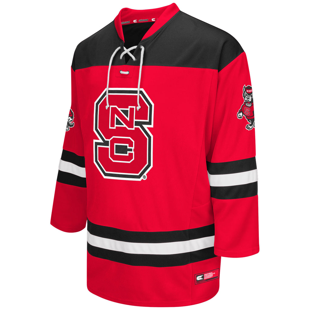 North Carolina State Wolfpack Red Open Net Hockey Jersey