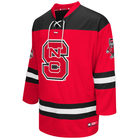 NC State Wolfpack Red Open Net Hockey Jersey