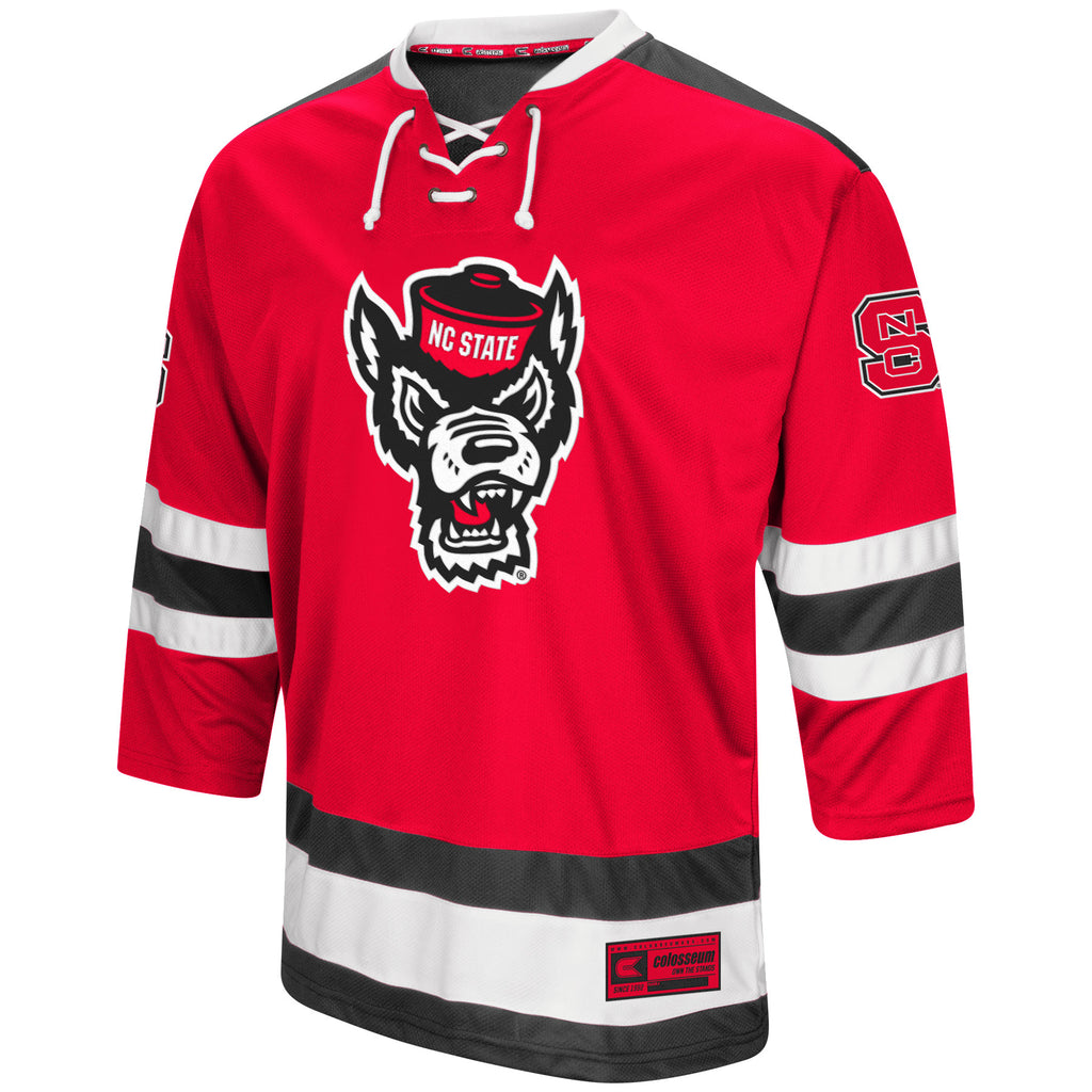 NC State Wolfpack Athletic Machine Wolfhead Hockey Jersey – Red and White  Shop 3ebdd2396b0
