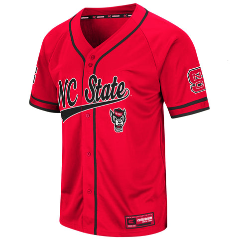 NC State Wolfpack Men's Red Turf N Turf Baseball Jersey