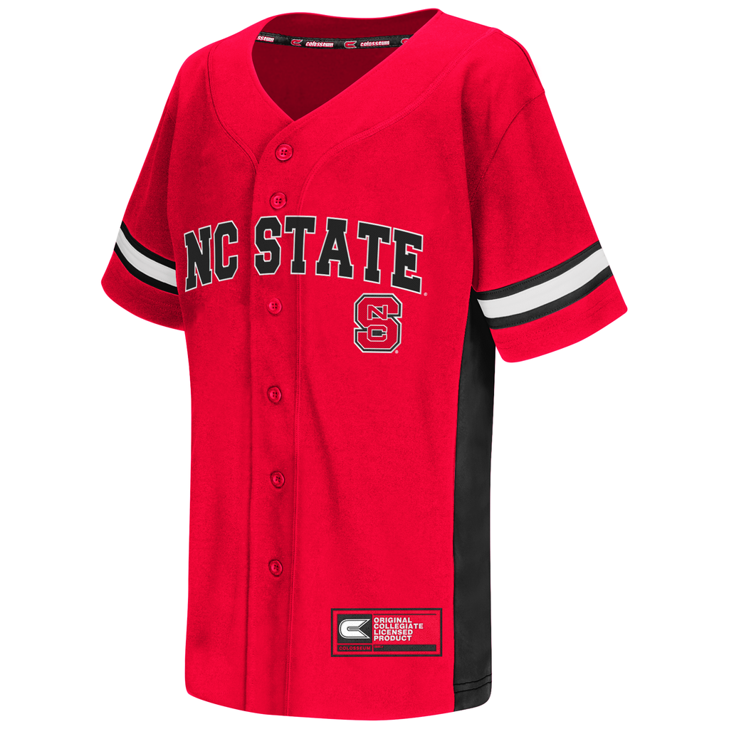 NC State Wolfpack Red Strike Zone Baseball Jersey