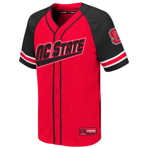 NC State Wolfpack Youth Red Wallis Baseball Jersey