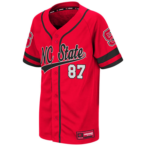NC State Wolfpack Youth Red Bam-Bam Baseball Jersey