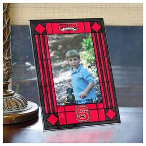 NC State Art Glass Vertical Photo Frame