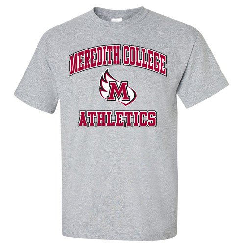 Meredith College Sports Grey Athletics T-Shirt