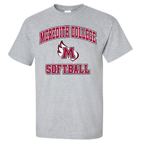 Meredith College Sports Grey Softball T-Shirt