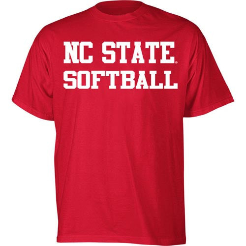 NC State Wolfpack Red Sport Softball T-Shirt