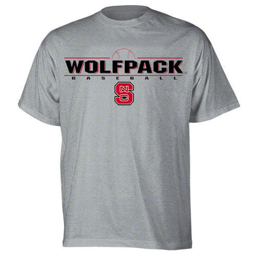 NC State Wolfpack Grey Wolfpack Baseball T-Shirt