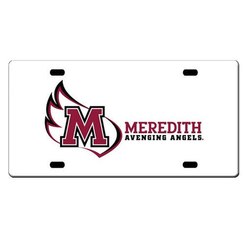 Meredith College White License Plate
