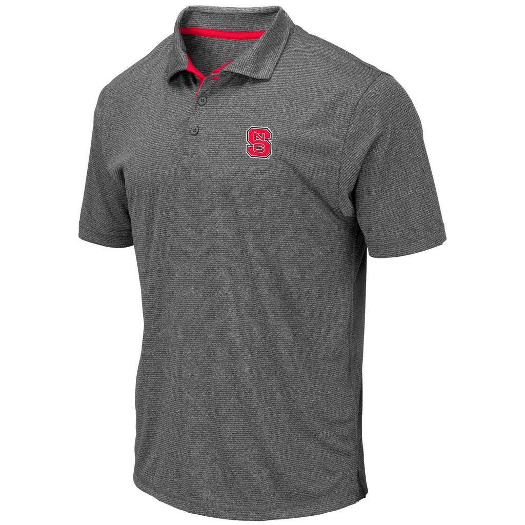 NC State Wolfpack Men's Heathered Grey Newcastle Polo