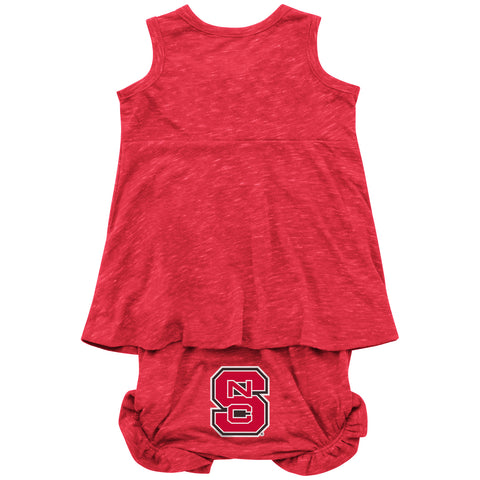 NC State Wolfpack Infant Girl's Red Snorkasaurus Bloom Set