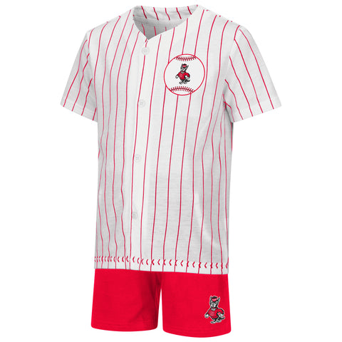 NC State Wolfpack Toddler Boy's Barney Baseball Set